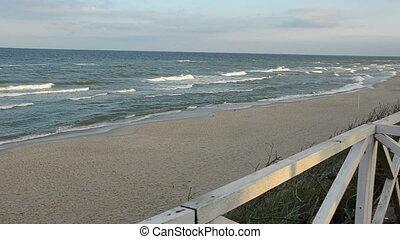 morgen, zee, landscape, golven