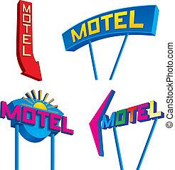 motel, tekens & borden
