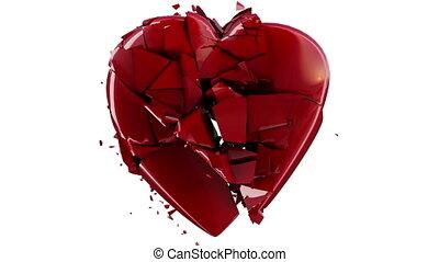 motie, hart, ontploffing, vertragen