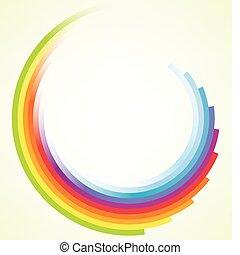 motie, kleurrijke, achtergrond, circulaire