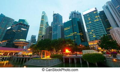 motie, timelapse, nacht, singapore