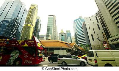 motie, timelapse, straat., singapore