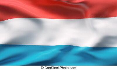 motie, vlag, luxembourg, vertragen
