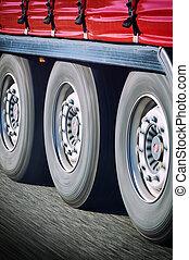 motie, wielen, vrachtwagen