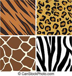 motieven, afdrukken, seamless, tiling, dier