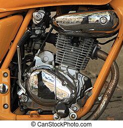 motor, afsluiten, motorfiets, op