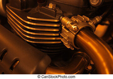 motor, close-up, motorfiets, achtergrond, detail