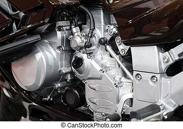 motor, close-up, motorfiets, detail