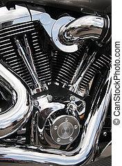 motor, close-up, motorfiets