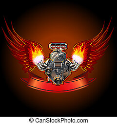 motor, turbo, vleugels