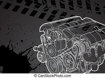 motor, vector