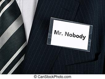 mr., niemand