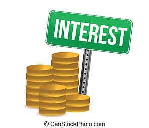 muntjes, groene, belangstelling, meldingsbord