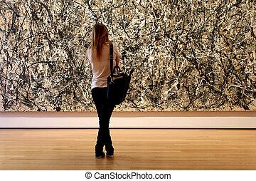 museum, moderne kunst, stad, york, nieuw