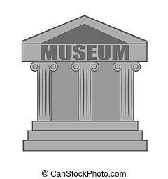 museum, pictogram