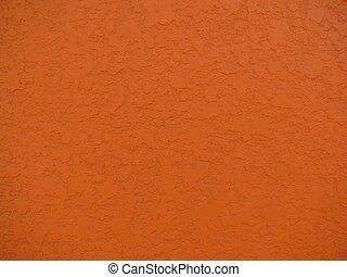 muur, achtergrond, op, sinaasappel, afsluiten, stucco