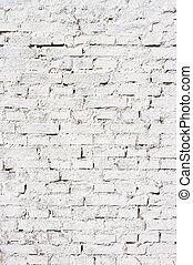 muur, bakstenen, witte achtergrond, textuur