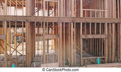 muur, bouwsector, het ontwerpen, huisinterieur, nieuw, vernieuwing