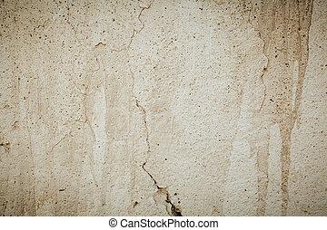 muur, gebarsten, bacground