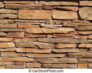 muur, steen, layered