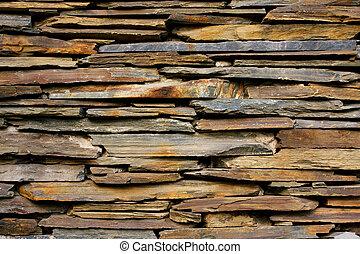 muur, steen, lei, textuur