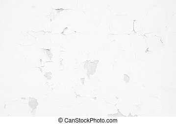 muur, textuur, geverfde, beton, schillen, witte , achtergrond.