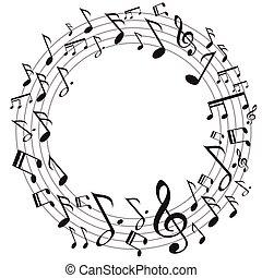 muziek, cirkel, opmerkingen