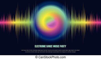 muziek, dans, spandoek, elektronisch, feestje