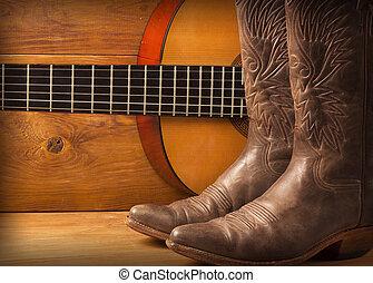 muziek, gitaar, land