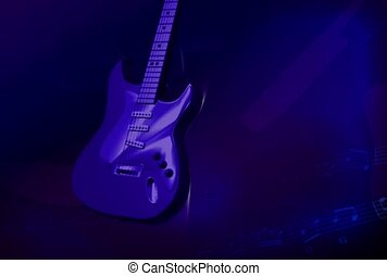 muziek, gitaar, rol, rots