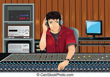 muziek studio, producent
