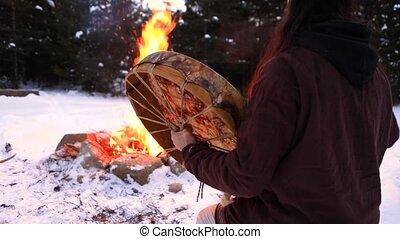 mystiek, ritueel, inlander, vuur, strijder