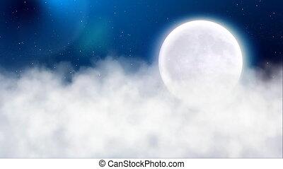 nacht, maan