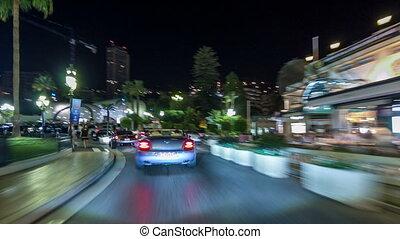 nacht, sporen, auto, monaco, timelapse, licht, wegen, hyperlapse, stad verkeer, drivelapse