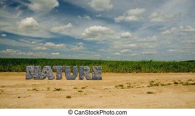 nature., inscriptie, steen, 47, beschermen, environment.