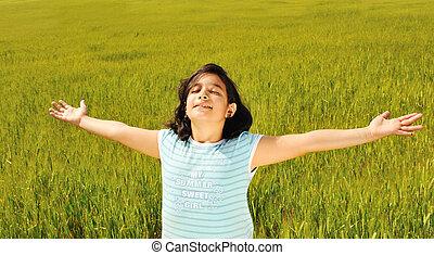 natuur, vrijheid, toekomst, menselijk, gereed, geluk