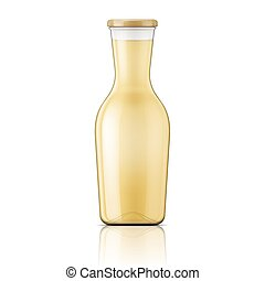 neck., glas fles, breed