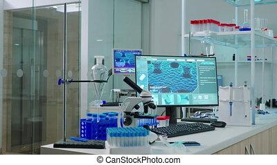 nee, laboratorium, mensen, interieur, moderne, wetenschap