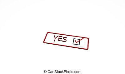 nee, postzegel, positief, negatief, verworpen, zeehondje, ja, erkend