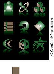 negen, symbolen, vector
