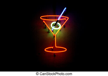 neon, cocktail