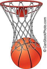 net, basketbal, door