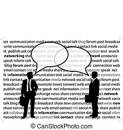 netwerk, zakenlui, aandeel, sociaal, bellen, praatje