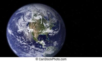 new york, aarde, zoom, ruimte