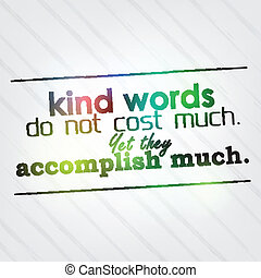 niet, lief, veel, kosten, woorden