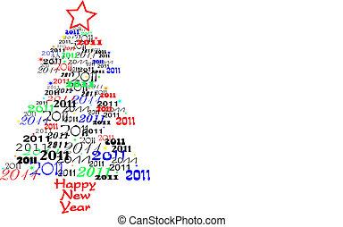 nieuw, 2011, boompje, jaar