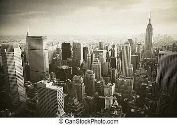 nieuw, manhattan, york, stad