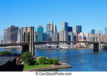 nieuw, skyline, york, stad