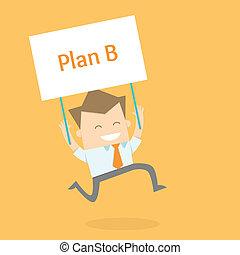 nieuwe man, zakelijk, proactive, strategie