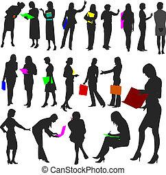 no.2., vrouwen, werken, -, mensen